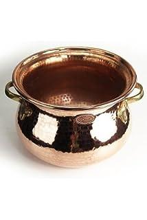 CopperGarden® Kupferkessel ❀ 5 Liter ❀ Hexenkessel ❀ Lagerküche ❀ Kupfertopf