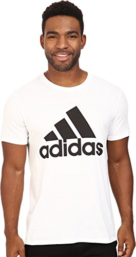 adidas Mens Badge of Sport Graphic Tee, White/Black, Small