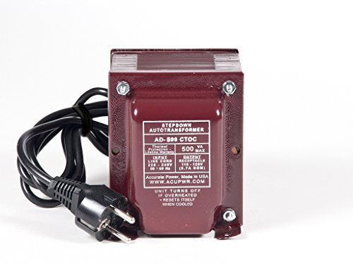 ACUPWR Tru-Watts 500-Watt Step Down Voltage Transformer w...
