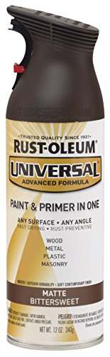 Wicker Finish (Rust-Oleum 282819 Universal All Surface Spray Paint, 12 oz, Matte Bittersweet)