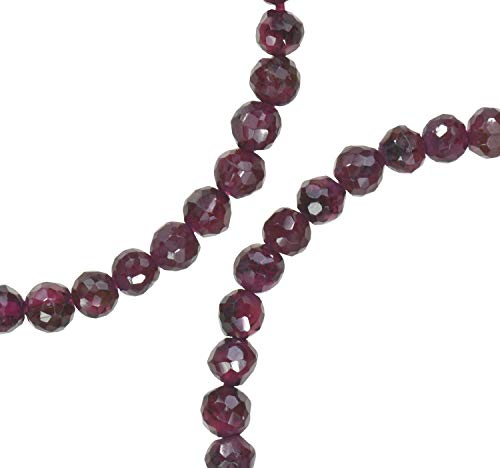 Garnet Faceted Genuine Natural Beads Round ~4.5mm Strand