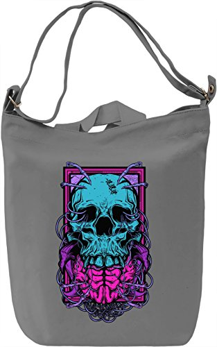 Skull with brains Borsa Giornaliera Canvas Canvas Day Bag| 100% Premium Cotton Canvas| DTG Printing|