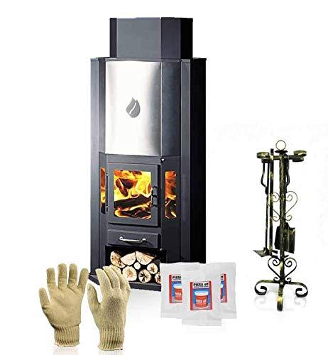 Estufa de leña skladova tehnika, Modelo Diplomat 11 Inox, salida de calor 20 KWM: Amazon.es: Bricolaje y herramientas