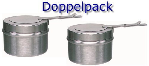 2 Stück - Brennbehälter Brennpaste Brennpastenbehälter für Fondue oder Chafing Dish / 2 teilig