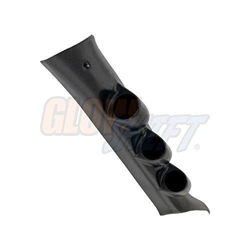 Mounts 52mm Gauges to Vehicles A-Pillar GlowShift Universal Black Triple Pillar Gauge Pod 3 2-1//16 ABS Plastic Fits Any Make//Model