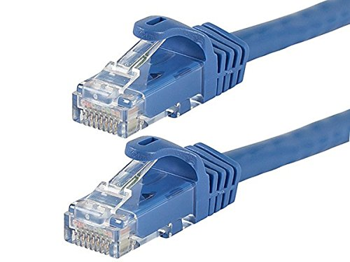 12PC FLEXboot Series Cat6 24AWG UTP Ethernet Network Patch Cable, 10ft Blue by MON001