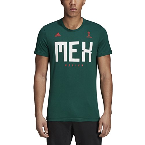 adidas World Cup Soccer Mexico Men's Tee, X-Large, Green Adidas Team Shirts
