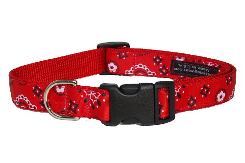 Sassy Dog Wear 10-14-Inch Red Bandana Dog Collar, Small from Sassy Dog Wear
