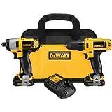 12v dewalt drill - DEWALT DCK211S2 12-Volt Max Drill/Driver / Impact Driver Combo Kit