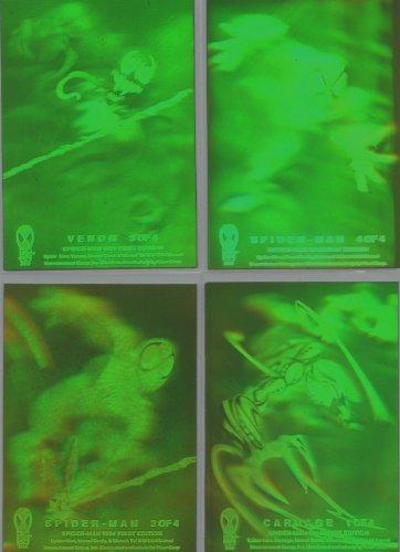 1994 Marvel Fleer Spider-man Complete 4 Card Hologram Chase Insert Set ()