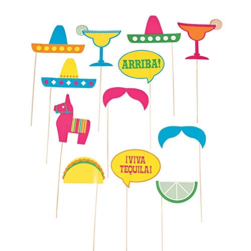 Fiesta Party Photo Stick Props]()