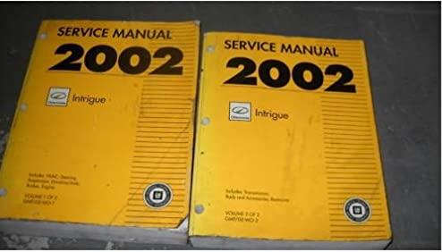 2002 oldsmobile intrigue service shop repair manual set 2 volume rh amazon com oldsmobile intrigue service manual torrent 2002 oldsmobile intrigue service manual
