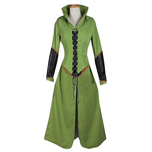 AGLAYOUPIN Adult Women Captain Cosplay Green Costume Outfit Halloween ()