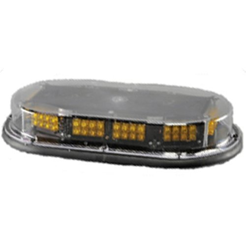 Low Profile Micro Mini Economy Light Bar, Magnetic Mount, 12 V LED, AMBER by North American Signal