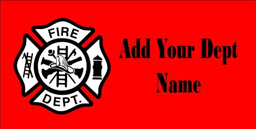 Fireman Maltese Cross License Plate Customized with your name (Fireman License Plate)