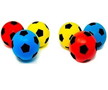 E-Deals - Juego de 6 balones de fútbol de 17,5 cm de espuma suave ...