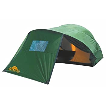 Image of Alexika Freedom 2 Plus 9128.2101 Tent Width 230 x Length 340 x Height 120 cm Green Exterior Yellow Interior Tents