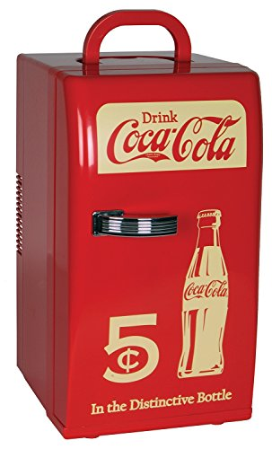 Koolatron Coca Cola Retro 0.8 Cu. Ft. Mini Fridge Red CCR-12