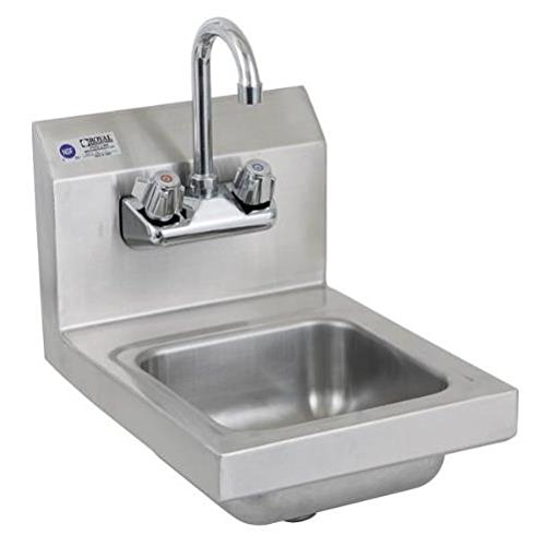 Royal Industries Commercial-Restaurant Wall-Mounted Hand Sink w/ Faucet 12