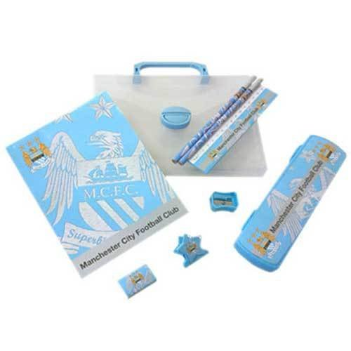 OFFICIAL MANCHESTER CITY F.C. STATIONERY SET WITH CARRY CASE