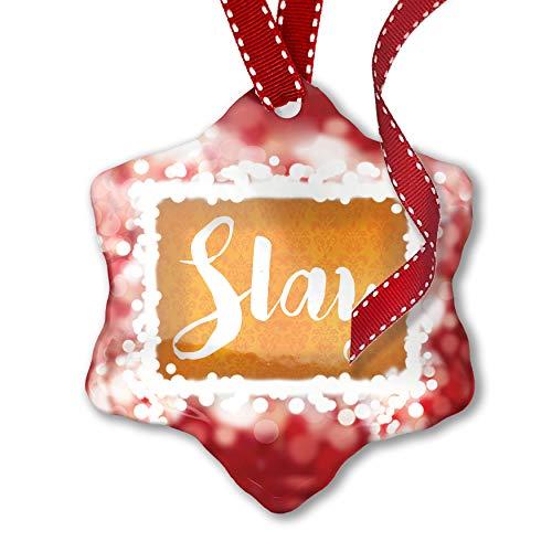 NEONBLOND Christmas Ornament Slay Halloween Orange Wallpaper,