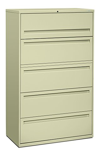 38000 Series Metal - HON 795LL 700 Series 42-Inch 5-Drawer Lateral File withroll-Out and Posting Shelves, Putty
