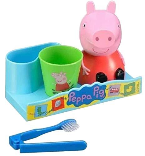Smile Toothbrush Holder - GBG Beauty Peppa Pig Great Smile Kids Toothbrush, Holder Rinse Cup 3 Piece Set