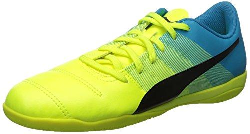 Zapato Puma Evopower 4.3 Fútbol Sfty Yellow-Black-Atmc Blue