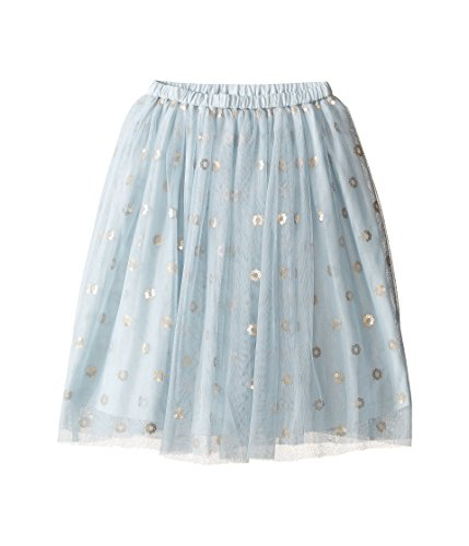 Kardashian Kids Baby Girl's Below Knee Mesh Sequin Skirt (Toddler/Little Kids) Blue Skirt