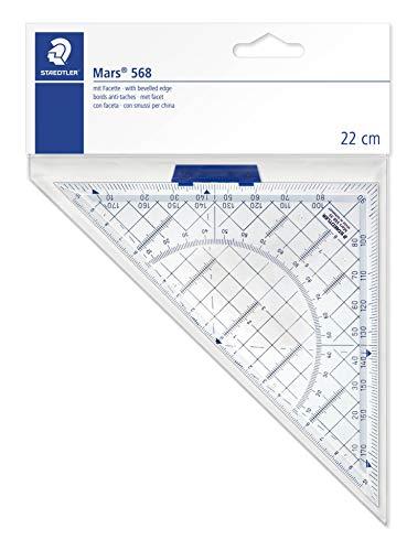 - Staedtler Mars 568 35 Set Square 22 cm Plexiglass Transparent