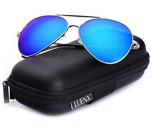 c0be3f5eb65 LUENX Large Aviator Sunglasses Polarized for Men   Women with ...