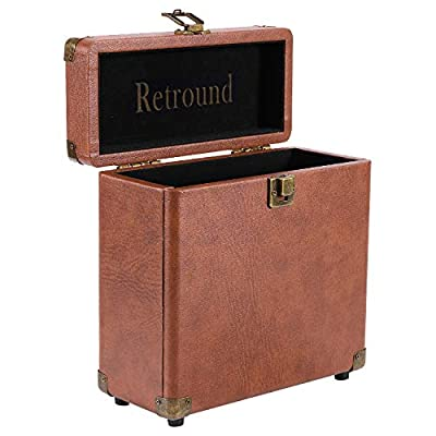 Retround Vintage Retro Vinyl leather Record Storage Carrying Case For 25+ Records (Dust/Scratch Free)-7Inch by Shenzhen Tsann Kuen Technology Co., Ltd.