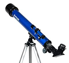 Ideal for the observer who views both astronomical and terrestrial objects, the Meade Infinity Series combines an altazimuth mount and quality optics for a superb value. For newcomers and beginners alike, these refracting telescopes are a gre...
