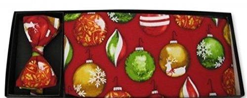 Christmas Jolly Holly Cummerbund and Bow Tie