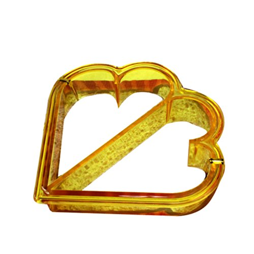 Gunking Sandwich Cutter Heart DIY Heart Dinosaur Shape Cake Bread Toast Mold Mould Makerr (Heart) Hl Biscuit