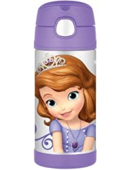 膳魔师Thermos Funtainer Bottle 12oz 小公主苏菲亚保温吸管杯,直邮仅$12.88