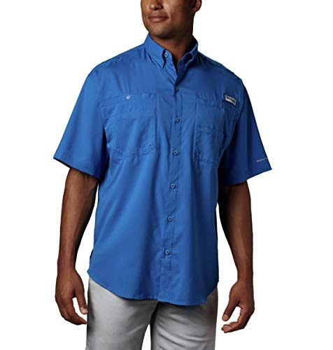 Tamiami Fishing Shirt - Columbia Men's Tamiami II Short Sleeve Fishing Shirt, Vivid Blue, X-Large
