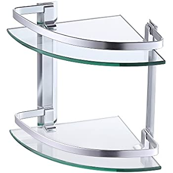 Amazon.com: KES Aluminum Glass Shelf Bathroom Bath Corner Caddy ...