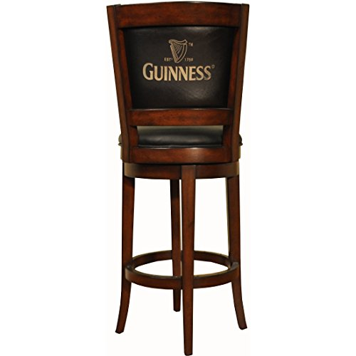 ECI Furniture Guinness Armless Barstool, 30 Inch, Walnut Finish