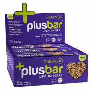 Greens Plus Plusbar, Omega 3 Chia Energy Bar, Natural 12 ea
