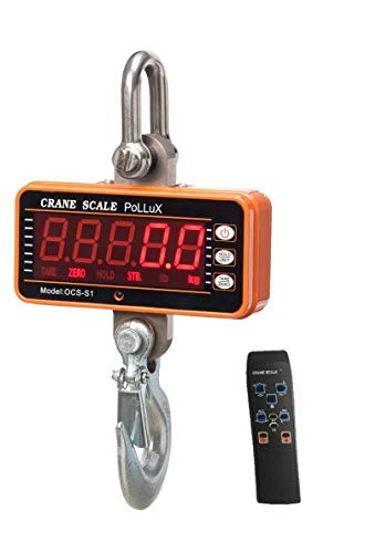 Industrial Heavy Duty Hanging Scale 1000KG/ 2000LBS, High Precision Digital Crane Scale with Remote by PoLLux (Orange) ()