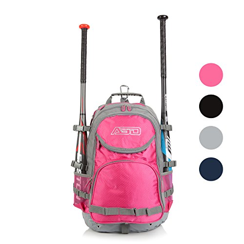 ABD ATHLETE Team Baseball & Softball Bag, School, Travel & Overnight 9 Compartment Bat Pack - Softball Pink Girls Bags