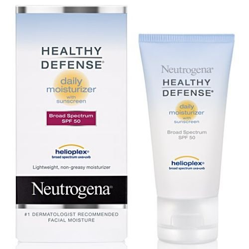 Neutrogena Healthy Defense Daily Moisturizer Sensitive Skin, SPF 50 Lotion 1.70 oz (Pack of 12)