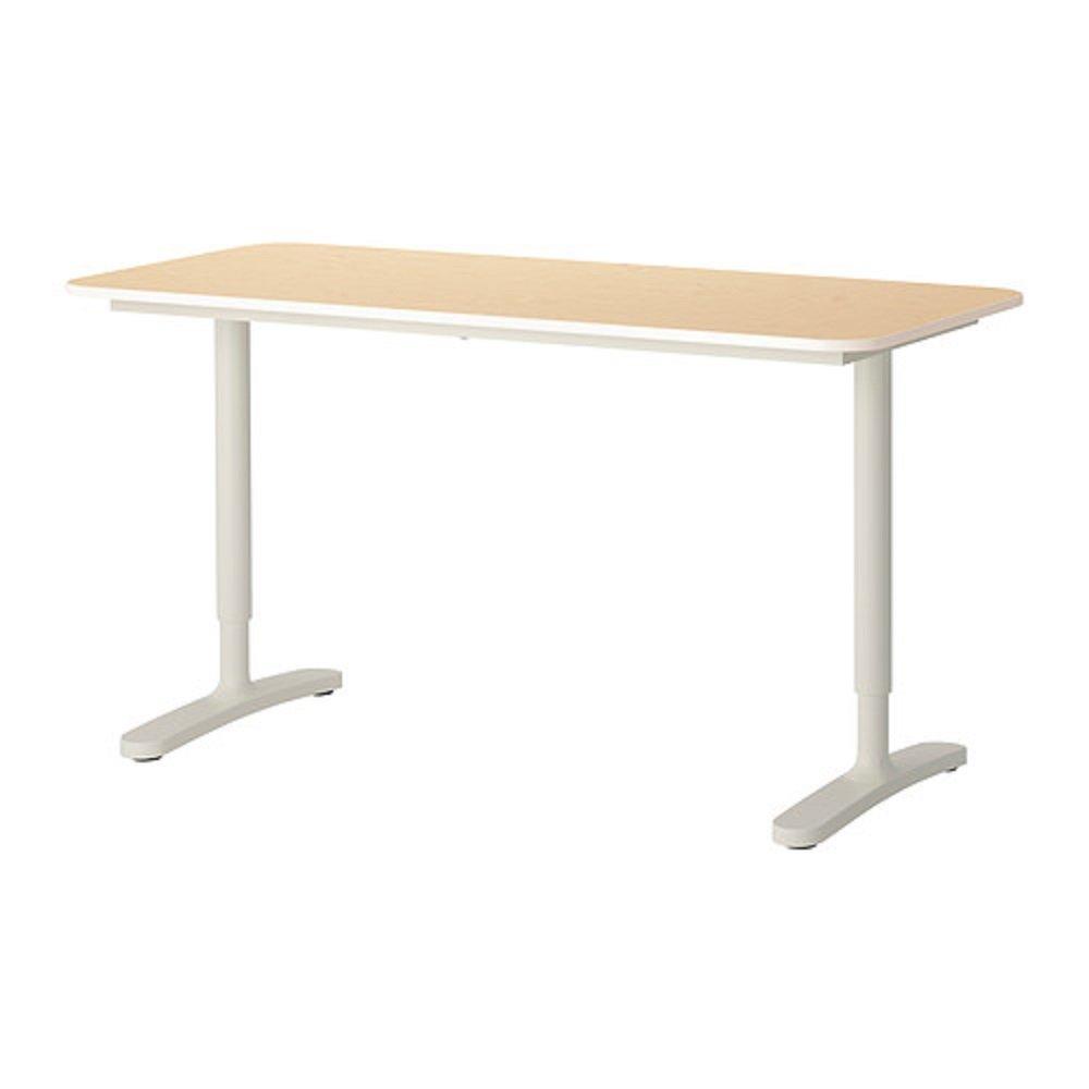 IKEA/イケア BEKANT/ベカント:デスク140×60㎝(バーチ材突き板/ホワイト)99006343 B017383TDQ