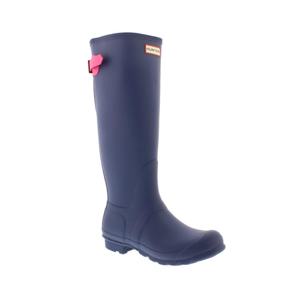 Hunter Women's Original Back Adjustable Dark Earth Blue/Ion Pink Boot