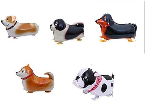 5Pcs ウォーキング動物風船恐竜犬象エアウォーカーマイラー箔ヘリウム子供のための再利用可能な風船ギフトパーティーの装飾 (スタイル-2)