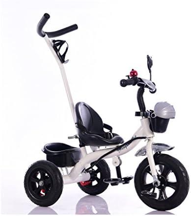 1-4歳の環境にやさしいプラスチックの白い自転車屋内と屋外のシンプルな子供の三輪車自転車