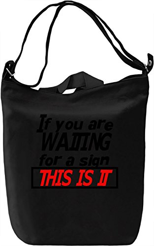 This is it Borsa Giornaliera Canvas Canvas Day Bag| 100% Premium Cotton Canvas| DTG Printing|