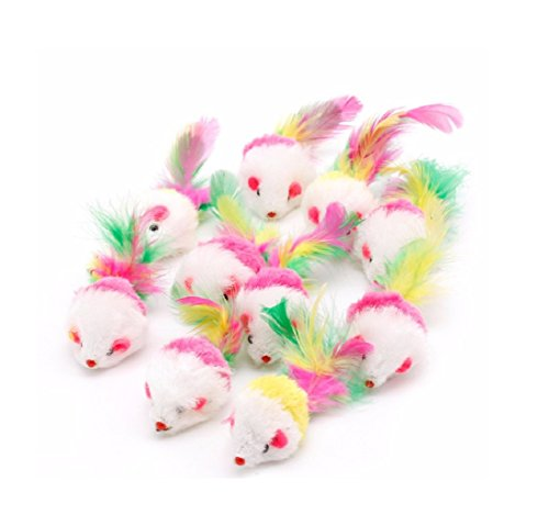 HOT Sale! 2017 10Pc Soft Cat Toys Mouse Fleece False Funny Cats Playing Toys For Kitten