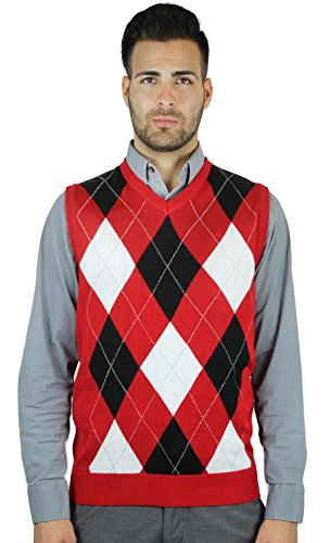 Blue Ocean Argyle Sweater Vest-X-Large